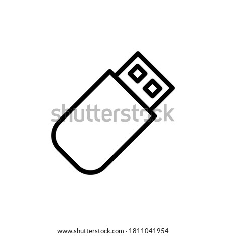 Flashcard technology icon. Simple line, outline illustration elements of cabinet accessories icons for ui and ux, website or mobile application Stock photo ©