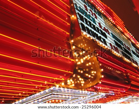 Flashing Neon Signs of Casino
