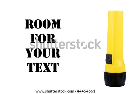 flashlight isolated on white with room for your text - stock photo