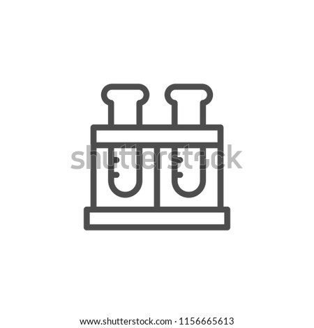 Flasks line icon icon isolated on white