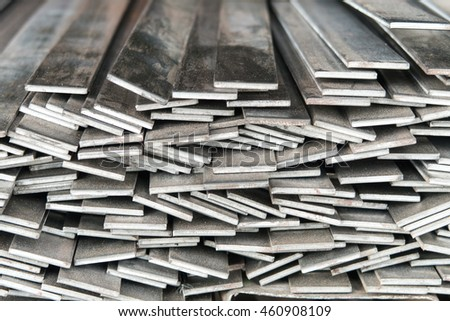 Flat Bar Steels stacking in the abstract pattern #460908109