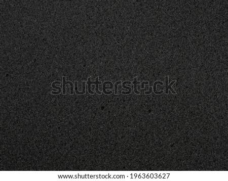 flat black foam rubber sponge texture and background Foto stock ©