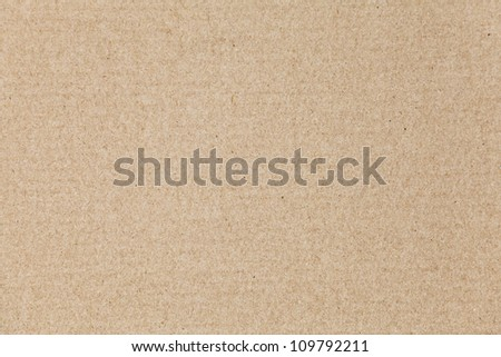 Flat brown cardboard background texture
