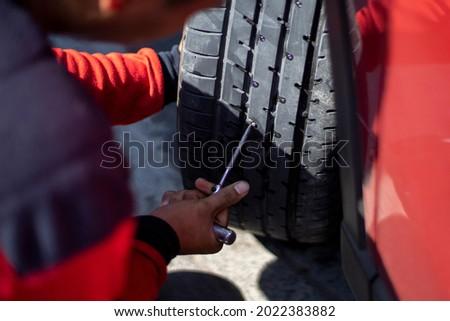 Flat car tire repair kit, Tire plug repair kit for tubeless tires