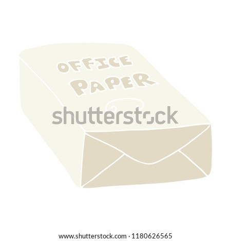 flat color illustration of office paper