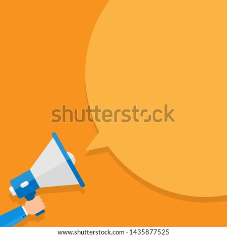 Flat design business  Illustration Empty copy space text for Ad website promotion esp isolated Banner template Megaphone Announcing Loudspeaker Sound System Handheld Amp Equipment