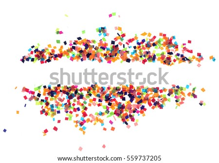 Flat design element.Abstract colorful explosion of confetti   isolated on a white background. #559737205
