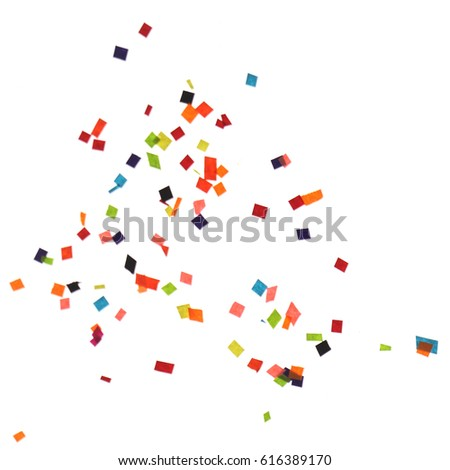 Flat design element.Abstract colorful explosion of confetti   isolated on a white background. #616389170
