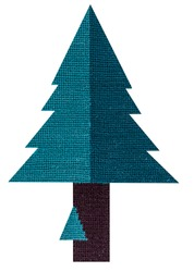 Flat Design Needlepoint Christmas Tree