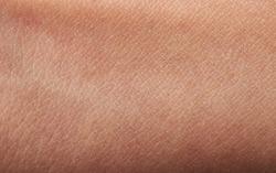 Flat human brown skin close up. Detail lines on woman skin