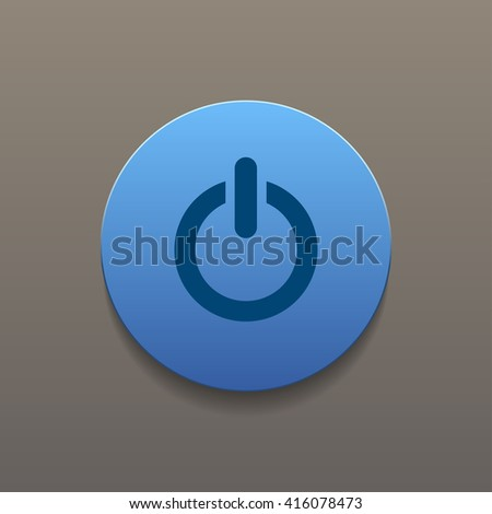 Flat icon of power. Flat design style  #416078473