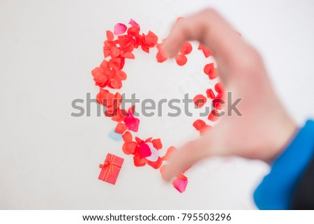 Free Photos Heart Symbol Made Of Pink Roses On White Background