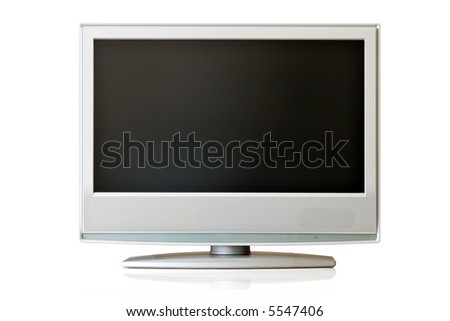Flat LCD TV isolated over white background