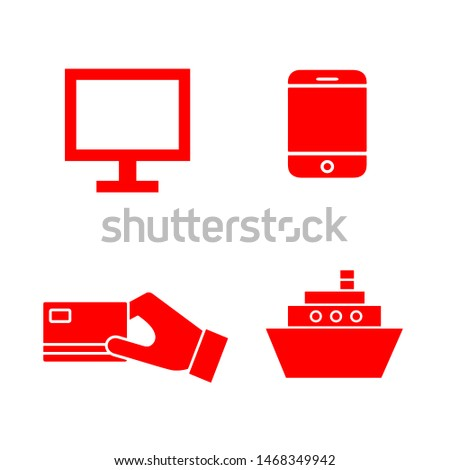 Flat minimal e-commerce symbol set. Simple raster e-commerce symbol set. Isolated e-commerce symbol set for various projects.