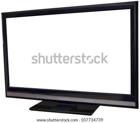 Flat Screen Display Isolated with Clipping Path Inside and Outside