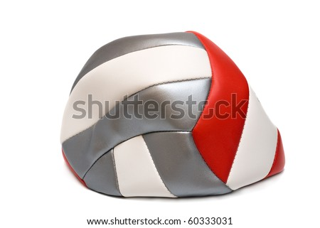 Flat soccer ball isolated on white background