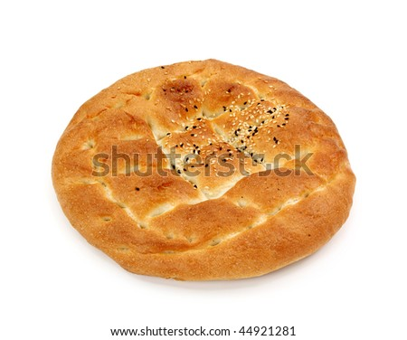 Flatbread isolated  on white background