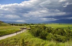 Flathead Lake and Polson, Montana, USA. Flathead Lake Viewpoint (South). Montana Photo Collection