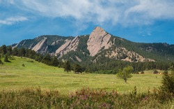 Flatirons from Chautauqua Park in Boulder, Colorado