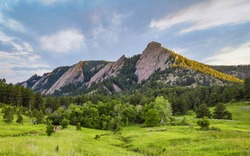 Flatirons in Boulder Colorado, Scenic View