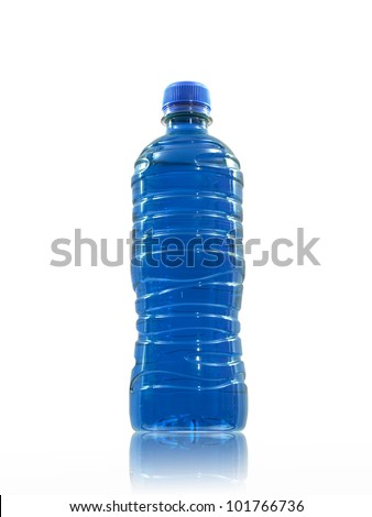 Flavoured sports drinks isolated against a white background