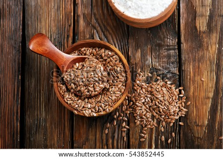 flax seed with flour