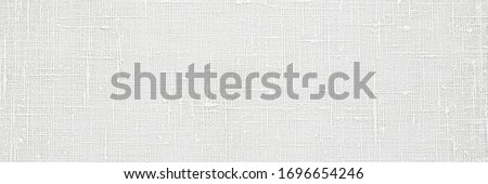 Flax white cloth texture. Linen fabric surface as Easter tablecloth background, banner Stock foto ©