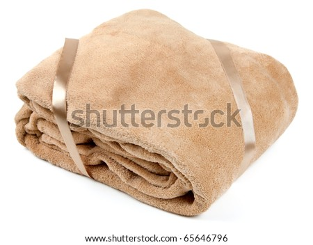 Fleece blanket, isolated on a white background