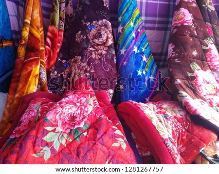 Fleece Blanket Shop In Fair , India #1281267757
