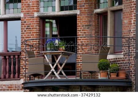 Flemish style balcony
