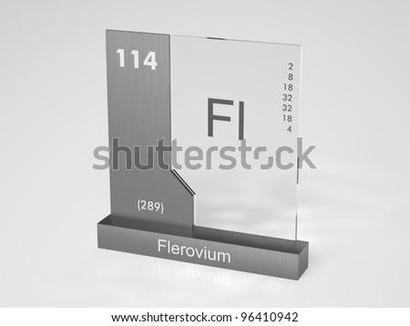 Flerovium - symbol Fl - chemical element of the periodic table #96410942