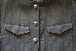 Fleur De Lis Buttons on Jacket