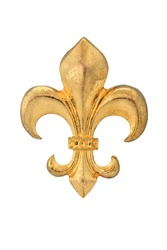 Fleur-de-lis isolated on white background, with clipping path