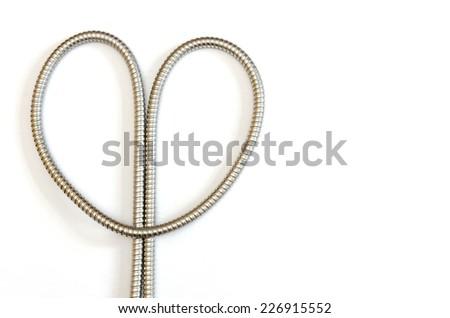 flexible metal hose forming a...