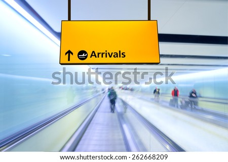 Flight, arrival and departure board at the airport