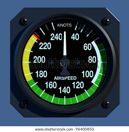 Flight Instruments - 2D - Airspeed Indicator