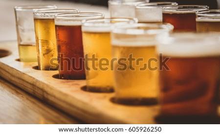 Flight of beers Сток-фото ©