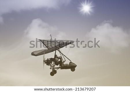 flight of the motor deltaplane...