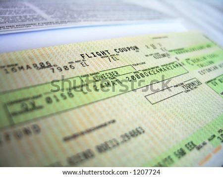 flight ticket, detailed 1 - stock photo