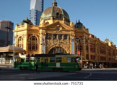 Flinders Street Station (II)The entrance to Flinders Street Station. Australia, Melbourne.