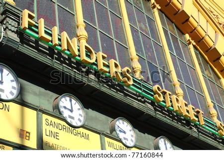 Flinders Street Station The entrance to Flinders Street Station. Australia, Melbourne.
