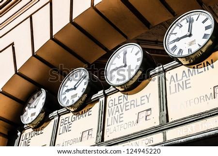 Flinders Street Station The entrance to Flinders Street Station. Australia, Melbourne. ( HDR image )