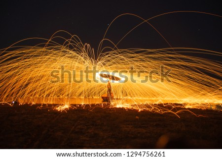 Fling fire picture