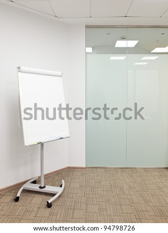 flip chart in the office room - stock photo