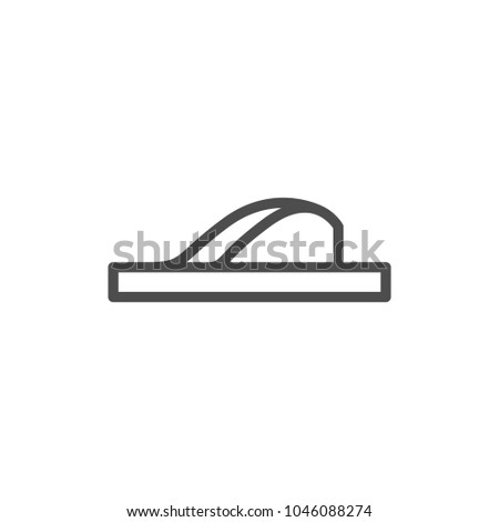 Flip flop line icon isolated on white