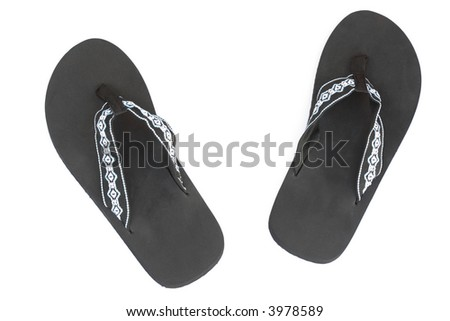 Flip flops, isolated