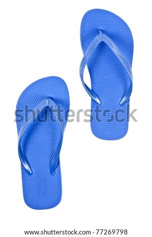 Flip Flops Isolated on White - stock photo