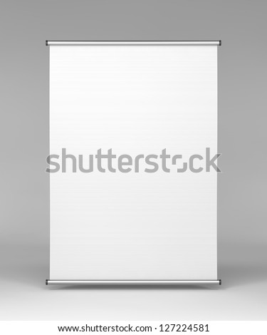 Flipchart, Front View on Gray Background.