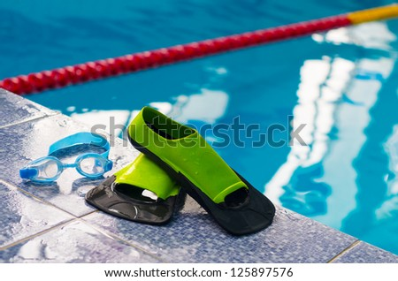 flippers and goggles