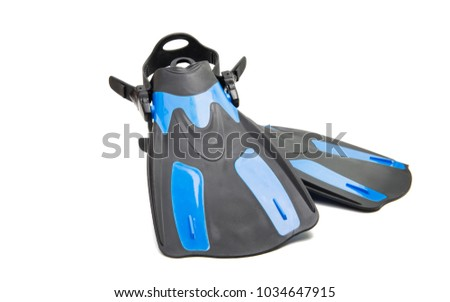 flippers isolated on white background